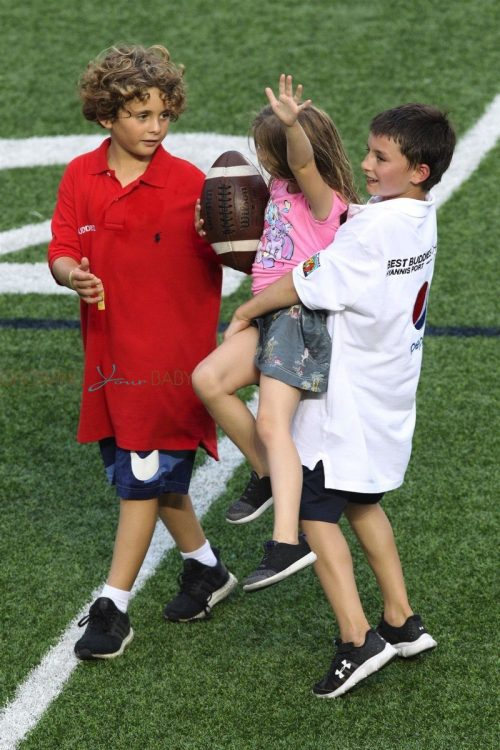 Vivian and Benjamin at dad Tom Brady's Best Buddies Charity Event