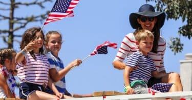Jennifer garner celebrates 4thof july with Sam and Seraphina