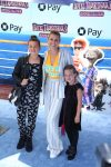 Jodie Sweetin with kids Zoie and Beatrix at the premiere of Hotel Transylvania 3 Summer Vacation