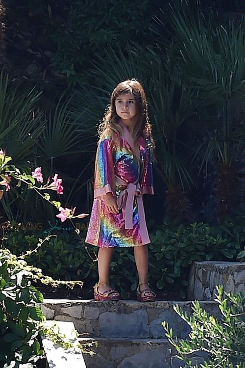 Penelope Disick on vacation in Italy with mom Kourtney Kardashian