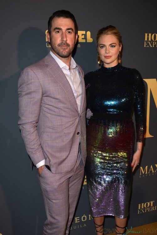 pregnant Kate Upton & Justin Verlander Arrive at The Maxim Hot 100 Party