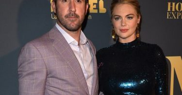 Pregnant Kate Upton and Justin Verlander pose at The Maxim Hot 100 Party F