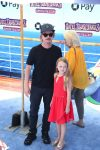 david spade with daughter Harper at the premiere of Hotel Transylvania 3 Summer Vacation