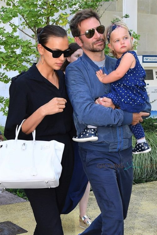 Bradley Cooper and Irina Shayk arrive with their daughter Lea in Venice