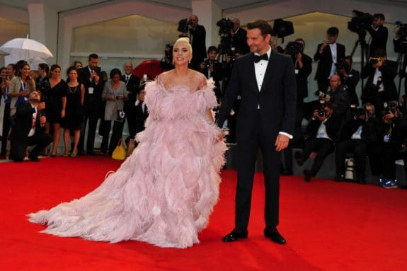 Bradley Cooper and Lady Gaga arrive at a screening premiere of A Star Is Born in Venice, Italy
