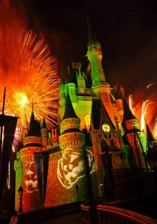 Happy HalloWishes fireworks show at the Magic Kingdom