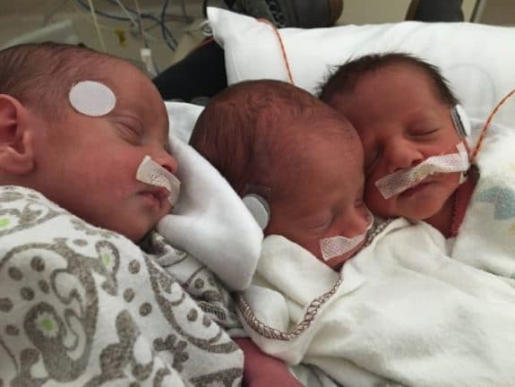 Mom Performs CPR On Premature Triplet While In Labour With Other Two
