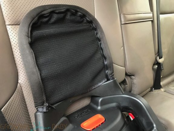 Britax Endeavours Infant Car Seat Review - anti rebound bar in the car
