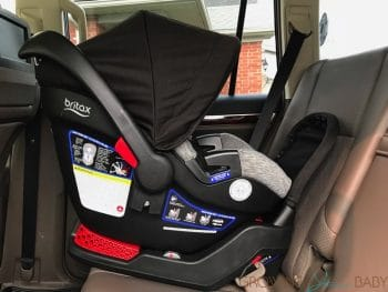 Britax Endeavours Infant Car Seat Review installed