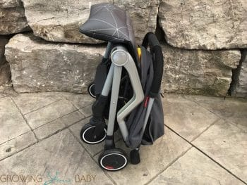 Diono Traverze Super-Compact Stroller - folded