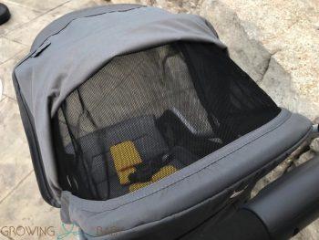 Diono Traverze Super-Compact Stroller - mesh canopy panel