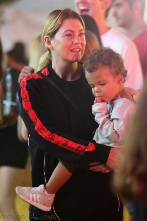 Ellen Pompeo at the Malibu Fair with daughter Sienna