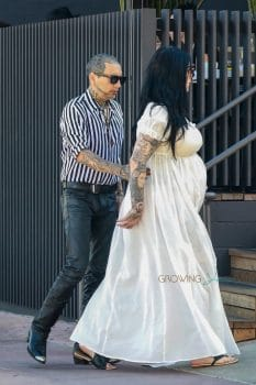Pregnant Kat Von D and husband Rafael Reyes grab dinner in Los Angeles