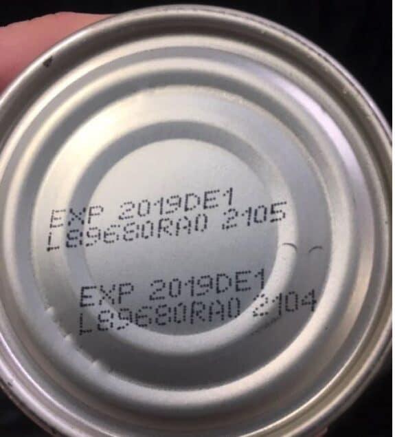 Abbott Formulated Liquid Nutrition Products expiration label