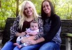 Ashleigh and Bliss Coutler with baby Stetson