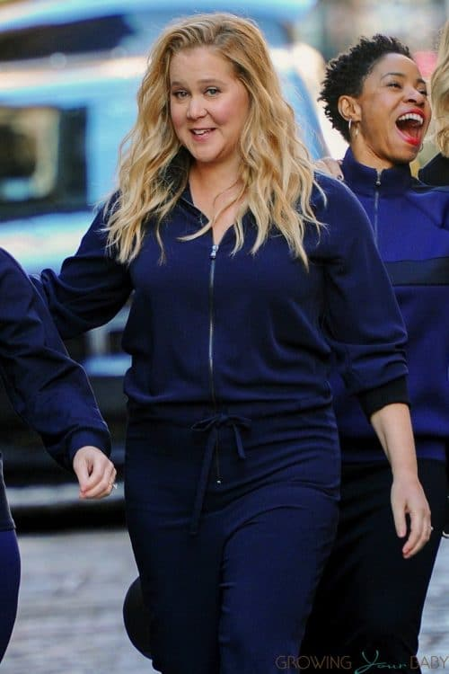 Pregnant Amy Schumer films a commercial after announcing her pregnancy