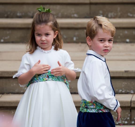 Princess Eugenies royal wedding to Jack Brooksbank - Prince George and Princess charlotte