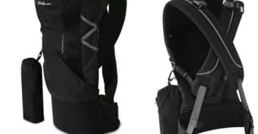 Recalled Eddie Bauer First Adventure infant carrier, front and gback views