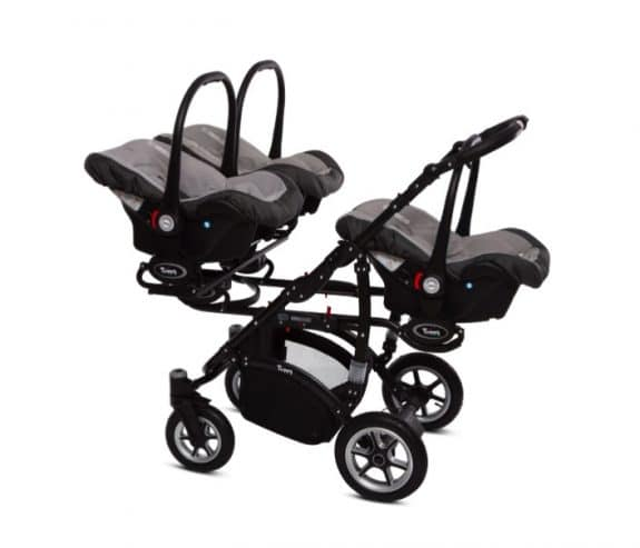 BabyActive Coolest Triple Stroller - 3 carseats