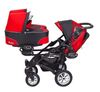 BabyActive triple stroller - bassinet stroller seat