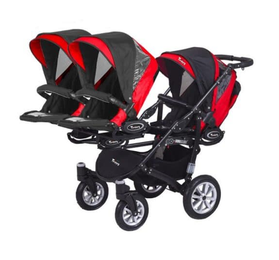 BabyActive triple stroller - facing out