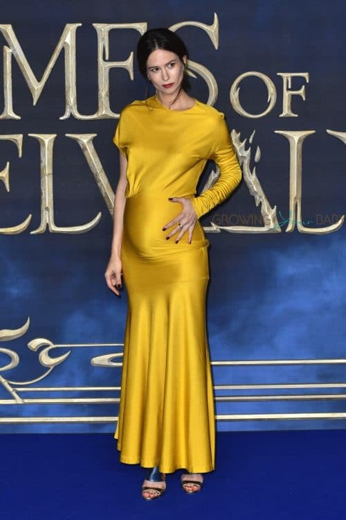 Pregnant Katherine Waterston debuts her bumps At Fantastic Beasts The Crimes of Grindelwald UK Premiere