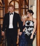 Pregnant Meghan, Duchess of Sussex and Prince Harry, Duke of Sussex seen leaving The Royal Variety Performance 2018 at London Palladium