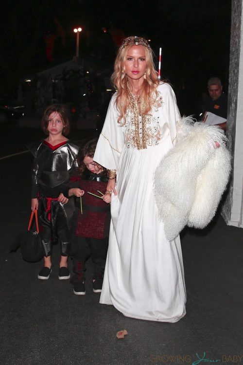 Rachel Zoe and family dress as medieval royals while out for halloween 2018