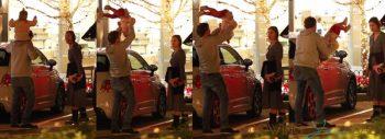 Bradley Cooper Flips his daughter Lea over his shoulders as GF Irina Shayk looks on 2