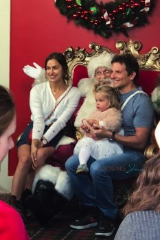 Bradley Cooper and Irina Shayk pose with daughter Lea with Santa