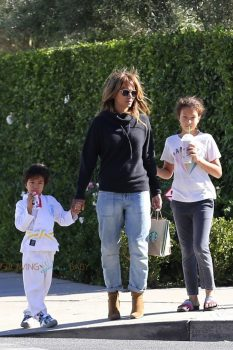 Halle Berry takes her daughter Nahla to Maceos karate class