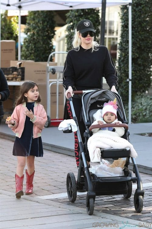 Khloe Kardashian Visits The Market With True and Penelope