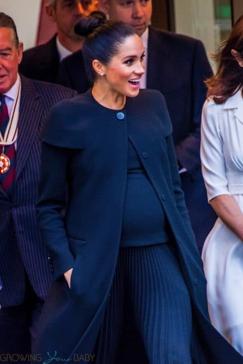 Pregnant Meghan Markle leaving the Association of Commonwealth Universities in London
