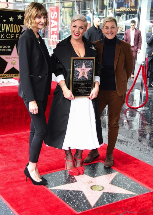 Kerri Kenney-Silver, P!nk, Pink, Alecia Moore, Ellen DeGeneres  at Hollywood Walk of Fame Ceremony