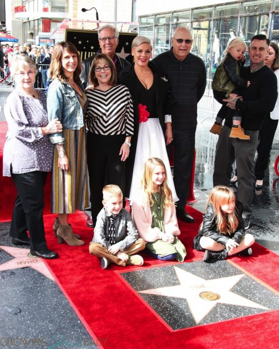 Pink Celebrates Hollywood Walk Of Fame Star With Family!