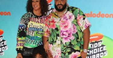 Nickelodeon Kids Choice Awards 2019 - DJ Khalad with wife Nicole Tuck and son Asahd