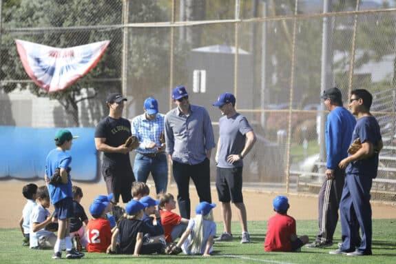 Ben Affleck attends his son Samuel's  baseball practice