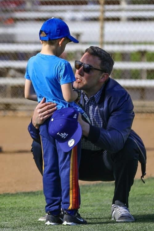 Ben Affleck attends his son Samuel's  baseball practice  6