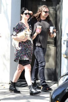 Pregnant Krysten Ritter shows her growing baby bump on a coffee run with husband Adam Granduciel