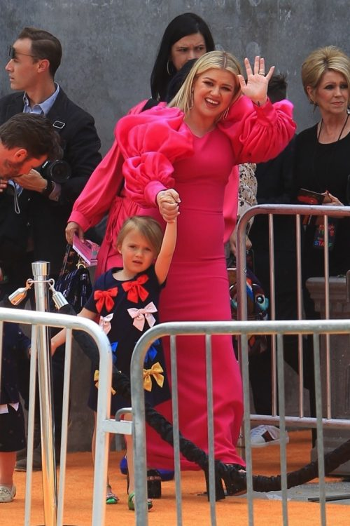 Kelly Clarkson with daughter River Rose at Ugly dolls premiere