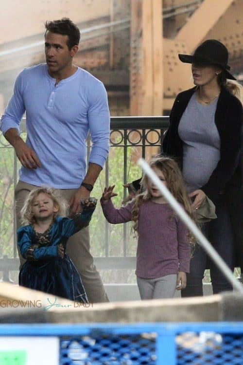 Pregnant Blake Lively brings the family to visit Ryan Reynolds on the set of 'Free Guy'