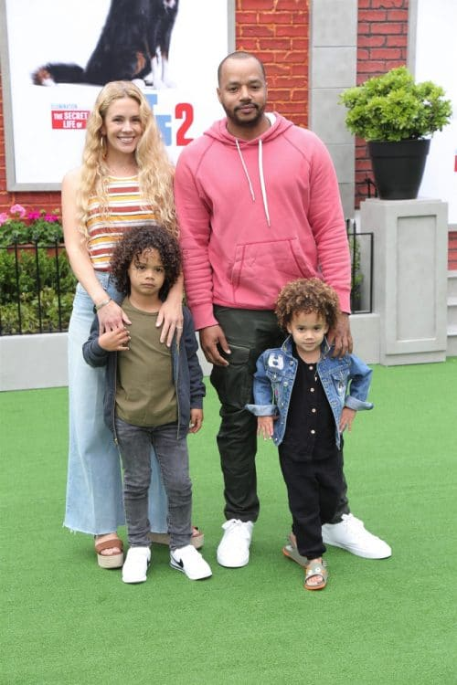 Donald Faison, CaCee Cobb, Rocco Faison, Wilder Faison at Secret Life of pets 2 premiere