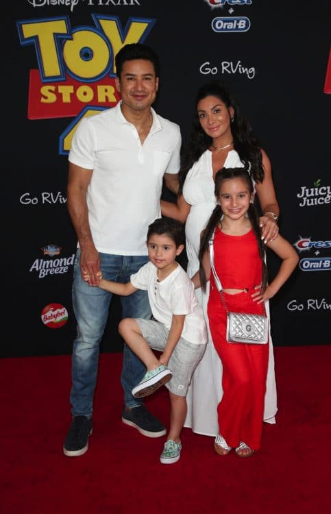 Gia Francesca Lopez, Mario Lopez, Dominic Lopez, Courtney Mazza at Toy Story 4 premiere