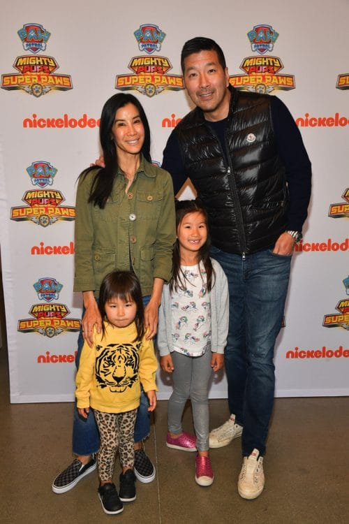 Lisa Ling and Paul Song with their daughters at Paw Patrol Event.jpg