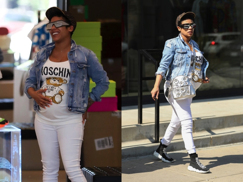 Mama-to-be Keyshia Cole Shops at Moschino