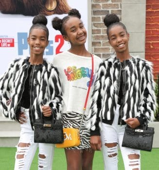 P.Diddy's twins D'Lila Star Combs, Chance Combs, Jessie James Combs at Secret Life of pets 2 premiere