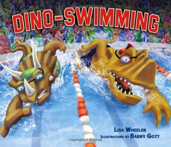 Dino Swimming by Lisa Wheeler