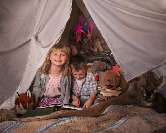 building a fort with kids