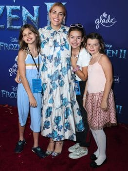 Busy Philipps with her daughters Cricket and Birdie at Frozen 2 premiere