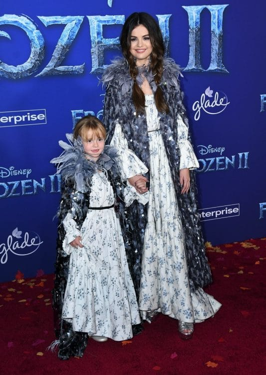 Gracie Teefey, Selena Gomez at frozen 2 premiere in LA
